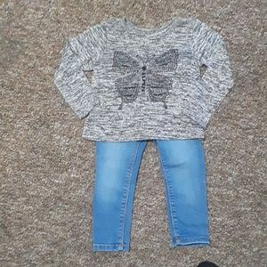 The Children's Place top/old Navy jeggings